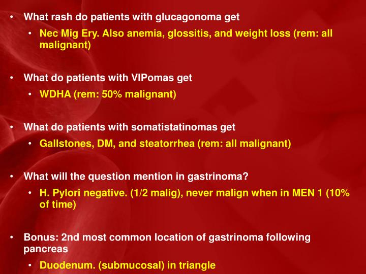 What rash do patients with glucagonoma get