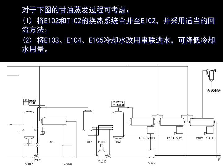 对于下图的甘油蒸发过程可考虑: