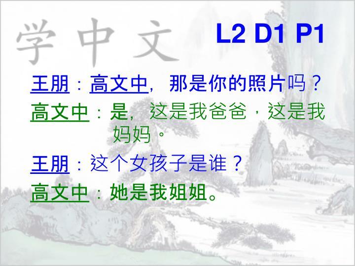 L2 D1 P1