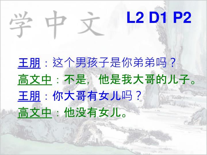L2 D1 P2