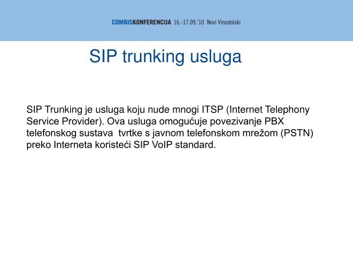 SIP trunking usluga