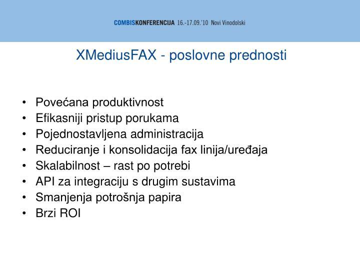 XMediusFAX - poslovne prednosti