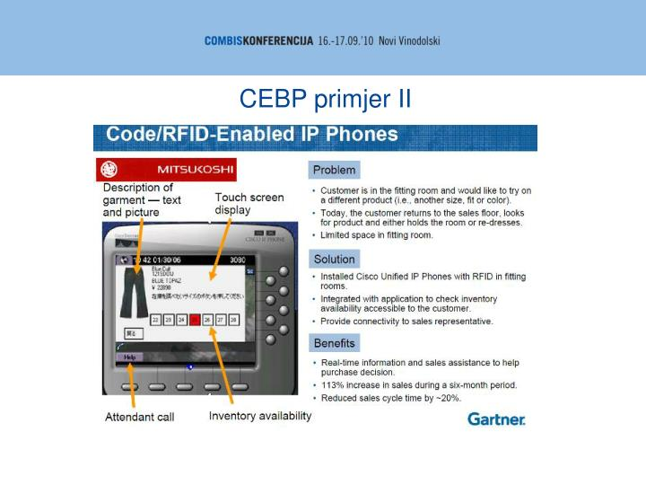 CEBP primjer II