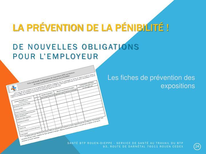 La prévention de la pénibilité !