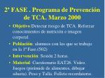 2 fase programa de prevenci n de tca marzo 2000