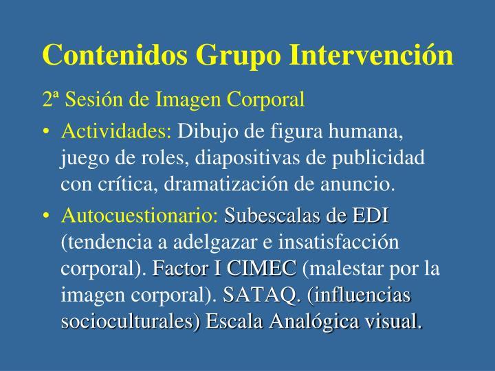 Contenidos Grupo Intervención