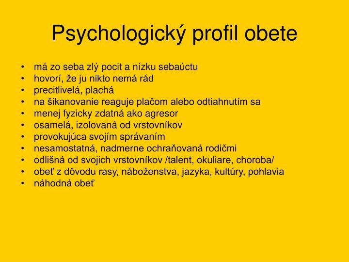 Psychologický profil obete