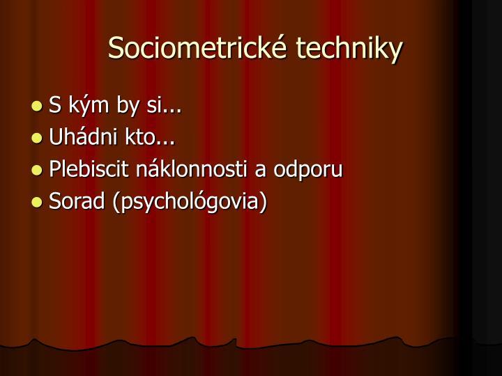 Sociometrické techniky