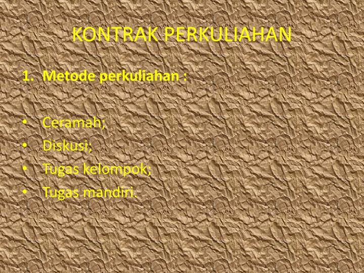 KONTRAK PERKULIAHAN