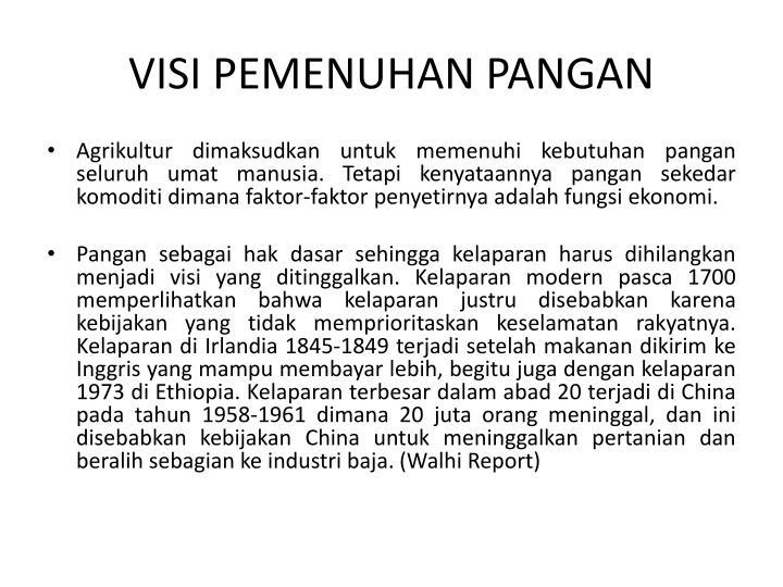 VISI PEMENUHAN PANGAN