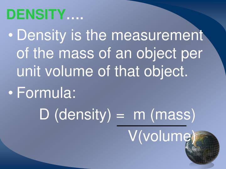 Ppt Mass Volume Amp Density Powerpoint Presentation Id