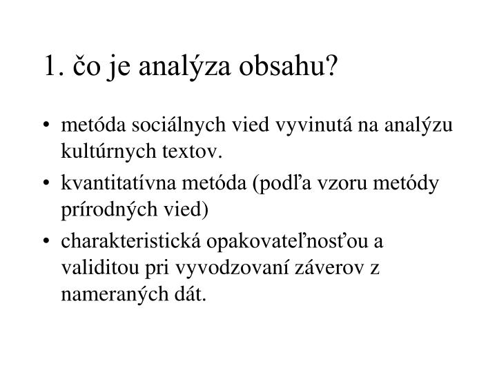 1. čo je analýza obsahu?