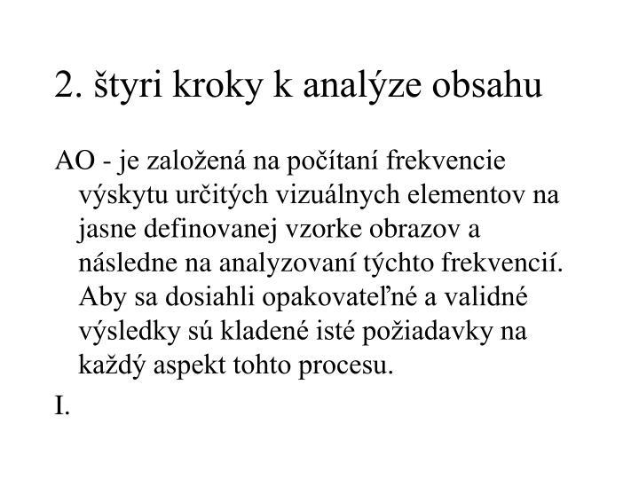 2. štyri kroky k analýze obsahu