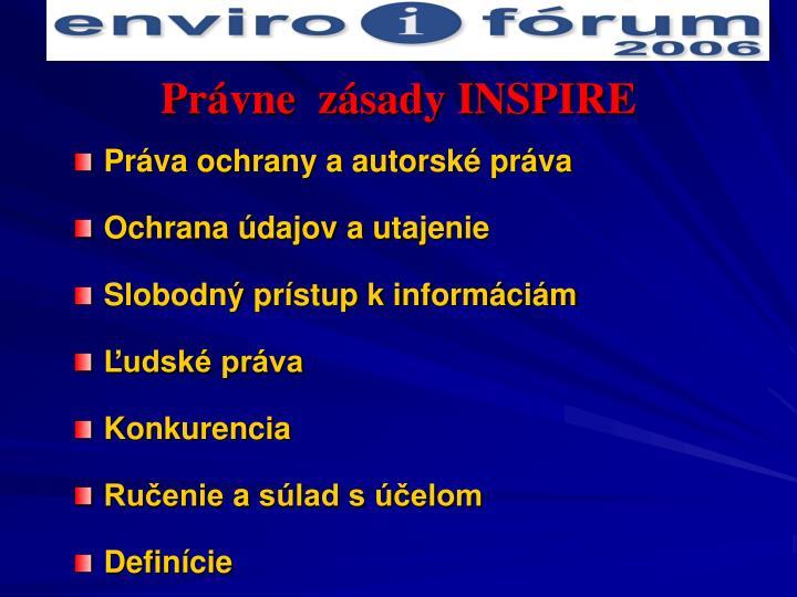 Právne  zásady INSPIRE