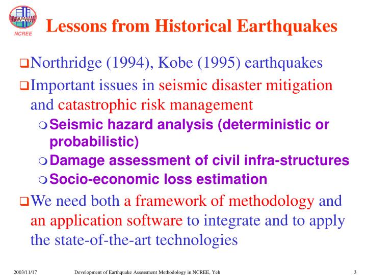Lessons from Historical Earthquakes