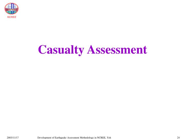 Casualty Assessment