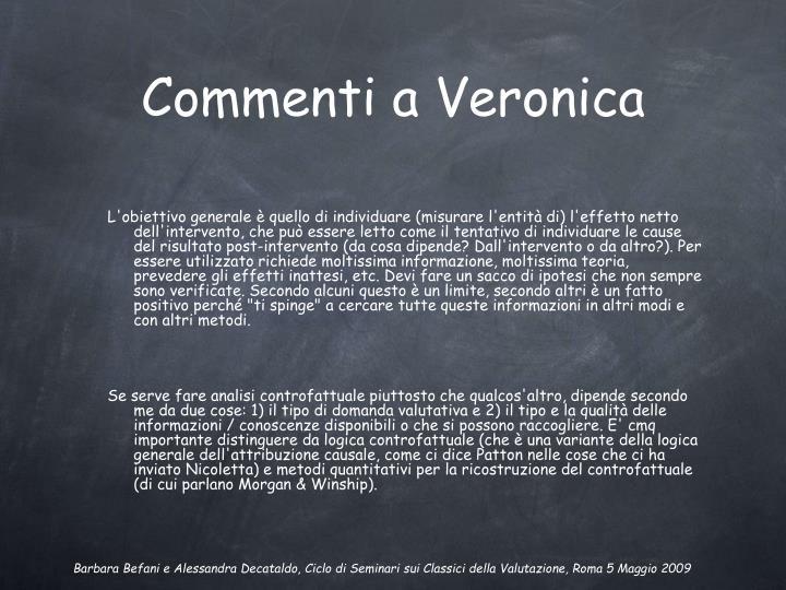 Commenti a Veronica