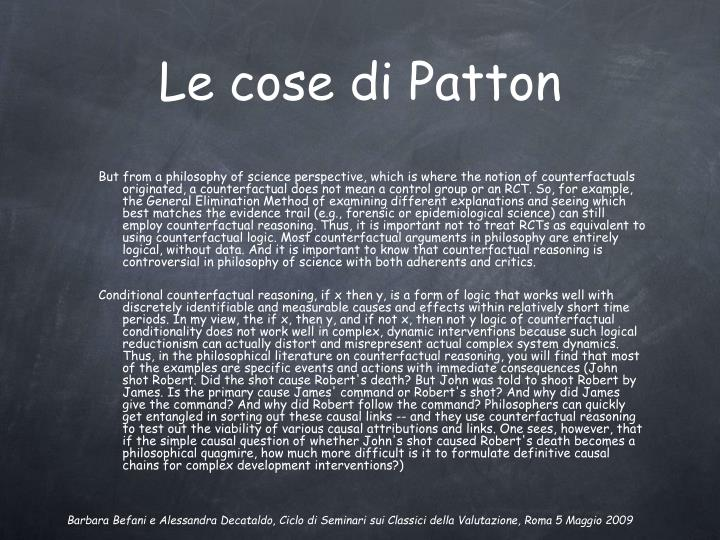 Le cose di Patton