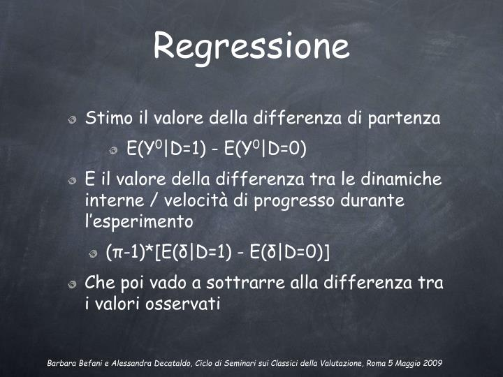 Regressione