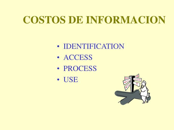 COSTOS DE INFORMACION
