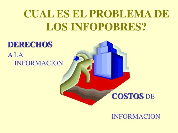 CUAL ES EL PROBLEMA DE LOS INFOPOBRES?