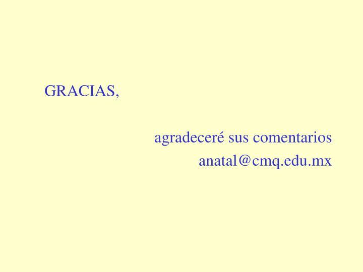 GRACIAS,