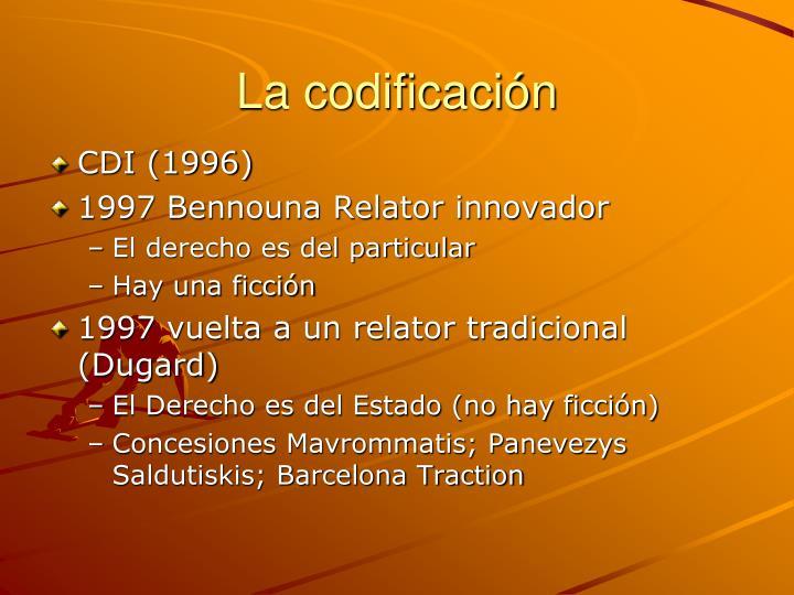 La codificación
