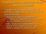 subproblema la protecci n directa de los accionistas