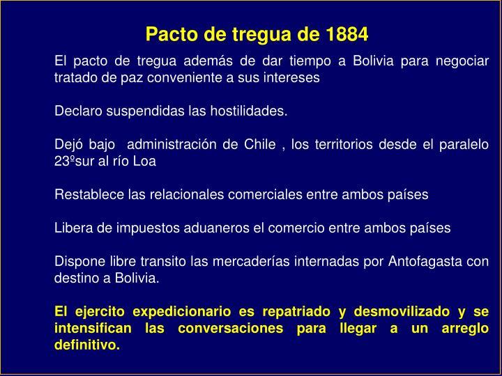 Pacto de tregua de 1884