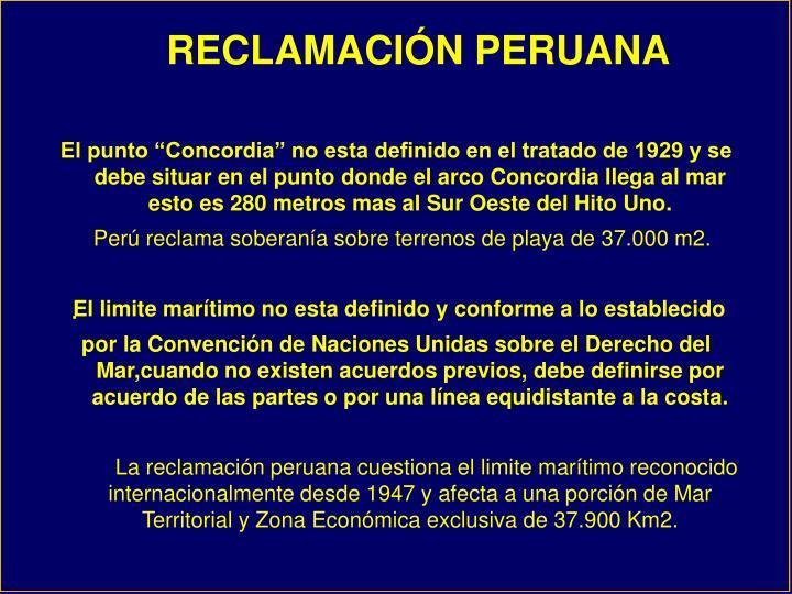 RECLAMACIÓN PERUANA