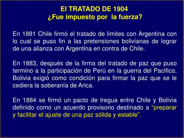 El TRATADO DE 1904