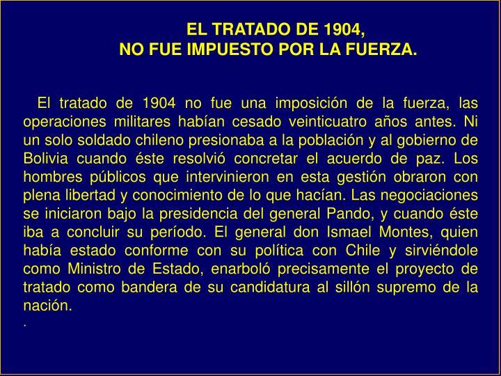 EL TRATADO DE 1904,