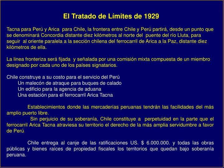 El Tratado de Límites de 1929