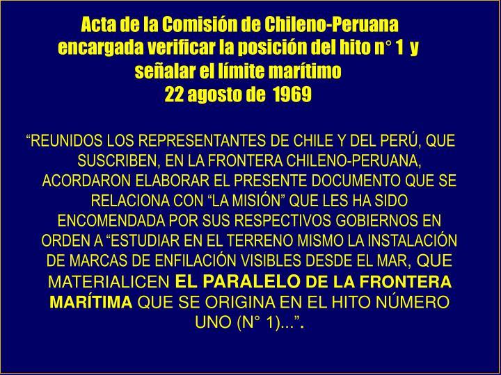 Acta de la Comisión de Chileno-Peruana