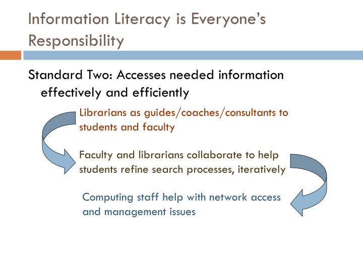 Information Literacy is Everyone's Responsibility