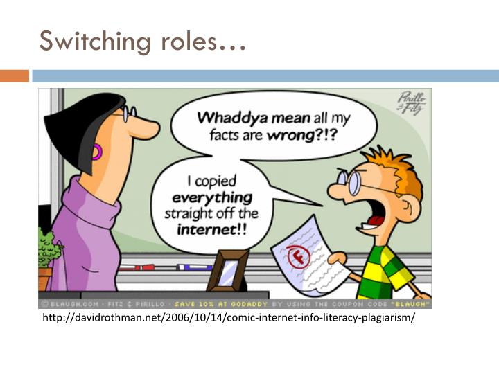 Switching roles…