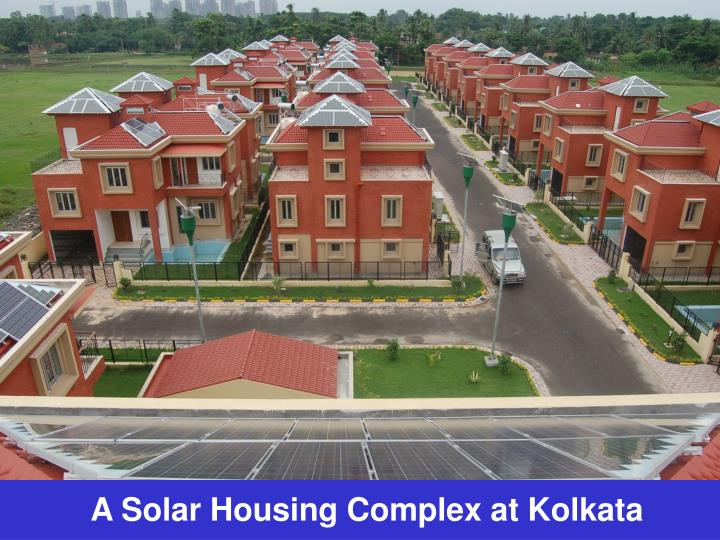A Solar Housing Complex at Kolkata