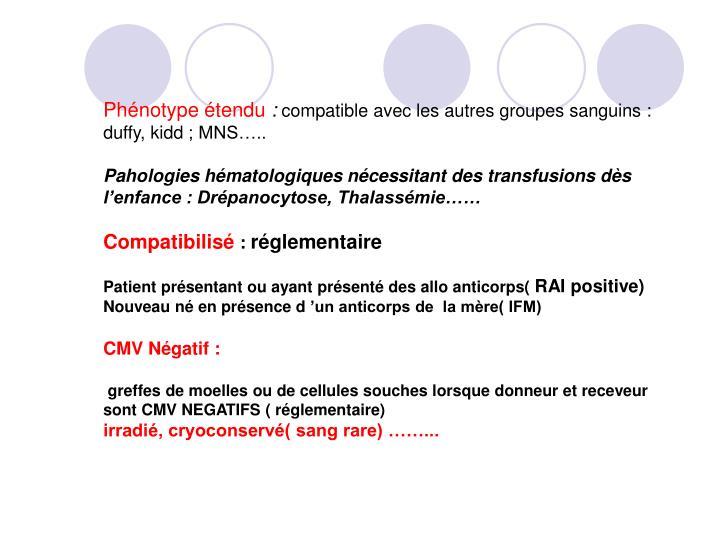 Phénotype étendu
