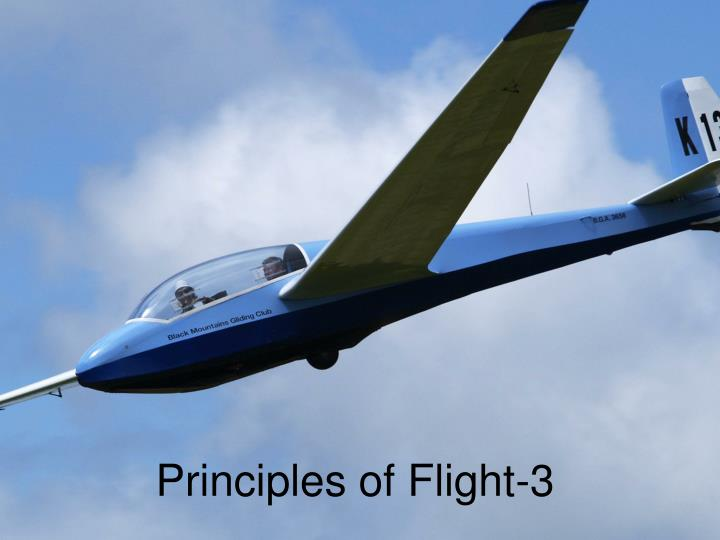 Principles of flight 3