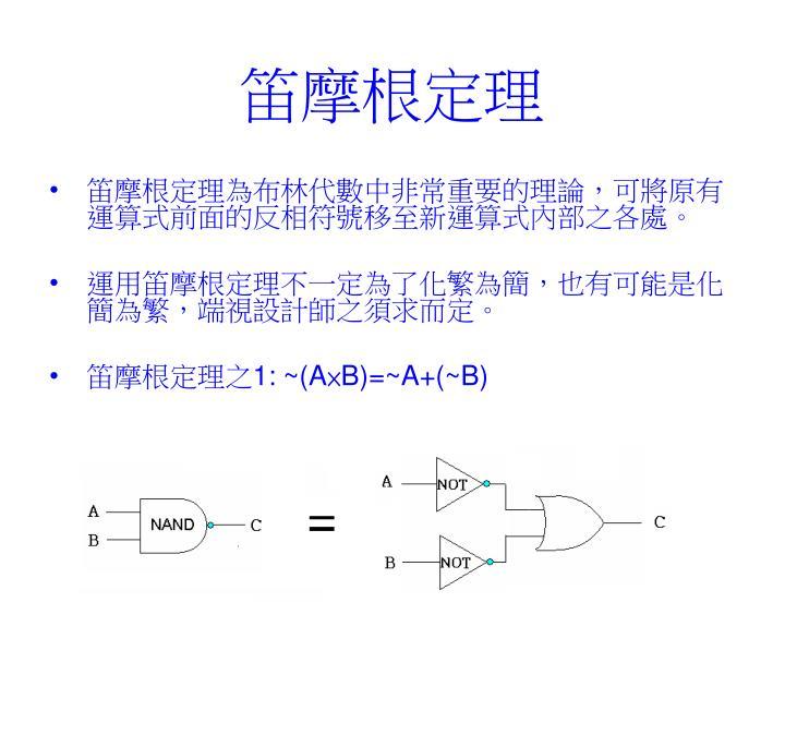 笛摩根定理