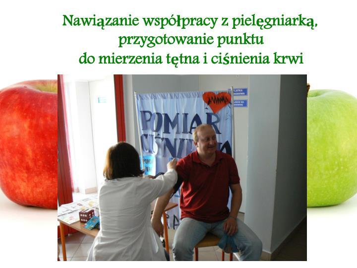Nawiązanie współpracy z pielęgniarką, przygotowanie punktu