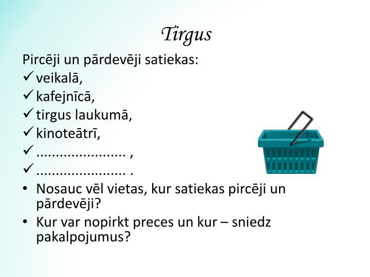 Tirgus