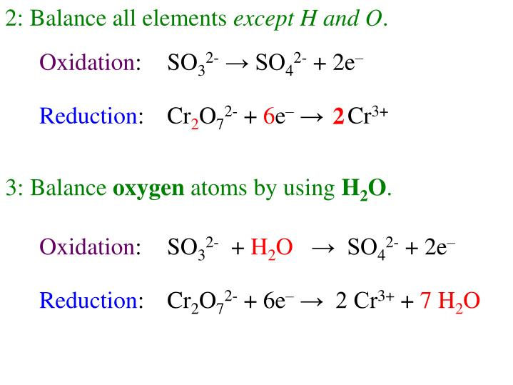 2: Balance all elements
