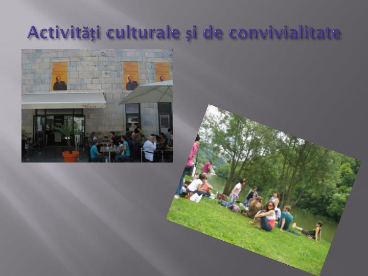 Activități culturale și de convivialitate