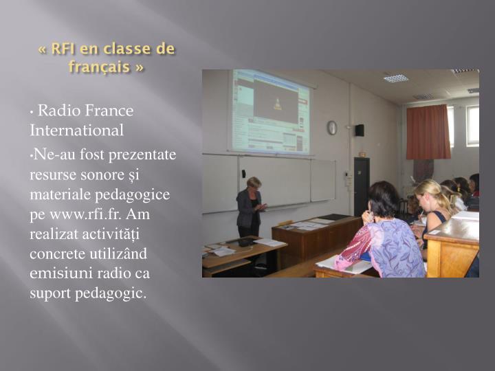 «RFI en classe de français»