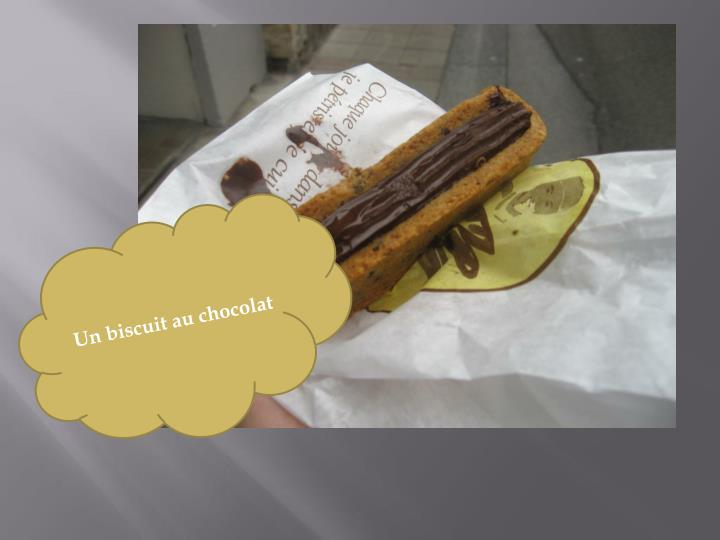 Un biscuit au chocolat