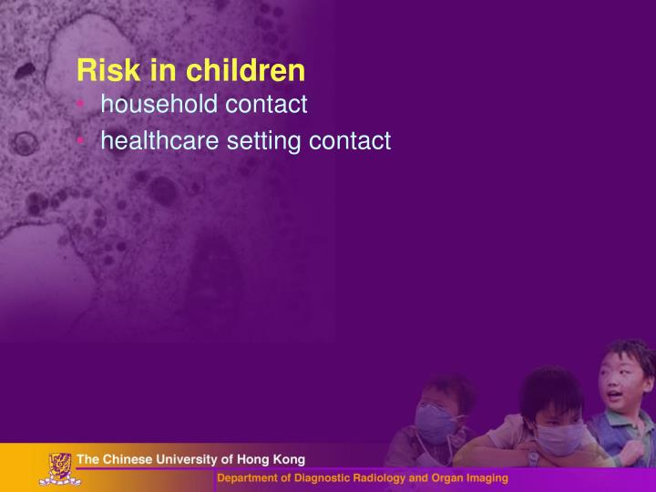 Risk in children