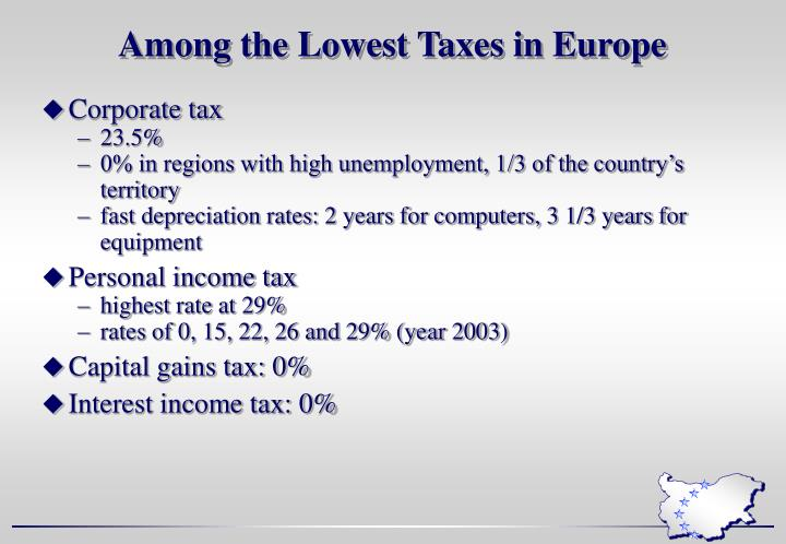 Among the Lowest Taxes in Europe