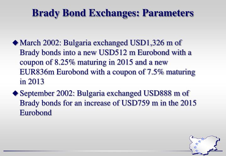 Brady Bond Exchanges: Parameters
