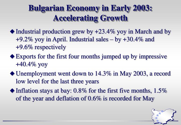 Bulgarian Economy in Early 2003: